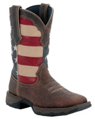 Durango® Rebel™ Ladies Dark Brown w/ American Flag Top Square Toe Western Boots I'm completely in love with these boots!