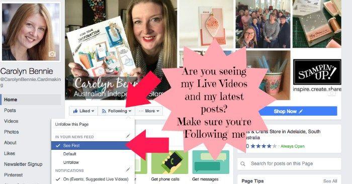 Follow my Facebook Page - carolyn bennie