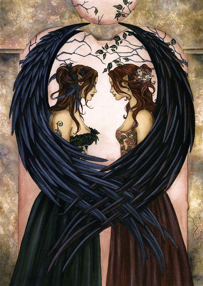 Я давно знаю об этой художнице. Эми Браун... Можно сказать, это одна из художниц, чьё творчество имеет для меня огромное значение. Её фейри — волшебный народец из кельтских и британских легенд — зацепили меня мгновенно, как только я их увидела. Совершенно особая манера изображения, характер и неуловимая магия. И все фейри на её картинах разные! Я и правда не встречала двух одинаковых.