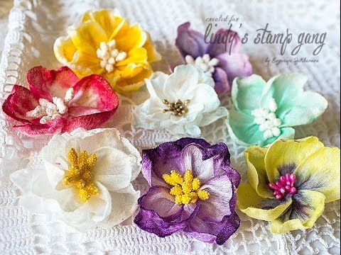 Wet Wipes Flowers Tutorial by Evgeniya Zakharova | Lindy's Stamp Gang