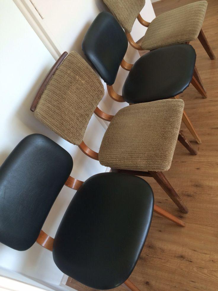 vintage jaren 60 stoelen Deense stijl en pastoe