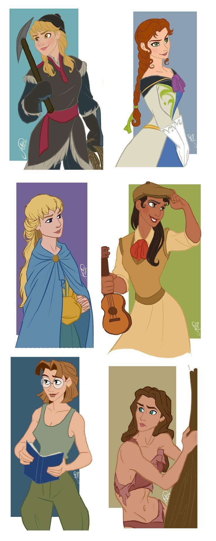 Male Gender Bender - Disney Characters | Disney Art ...  Male Gender Ben...