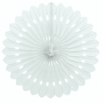 40cm White Decorative Paper Fan | The Party Cupboard