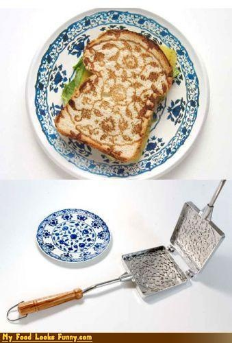so cool!: Delft Toast, Toast Inspiration, Food, Delft Art, Minale Maeda, Pretty Press, Toast Pan, Press Toast, Amazing Toast
