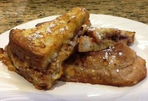 Fried Peanut Butter & Jelly Sandwiches...A sweet and savory treat!