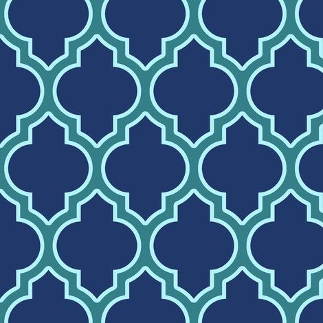 Pretty largescale quatrefoil pattern,in an awesome colorway!! on spoonflower,,,