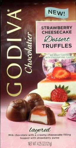 Godiva Chocolatier Strawberry Cheesecake Dessert Truffles - http://bestchocolateshop.com/godiva-chocolatier-strawberry-cheesecake-dessert-truffles/