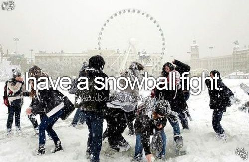 Yes. I will pluck up the courage some day to get hit full in the face with a snow ball with out fleeing and screaming in terror XD