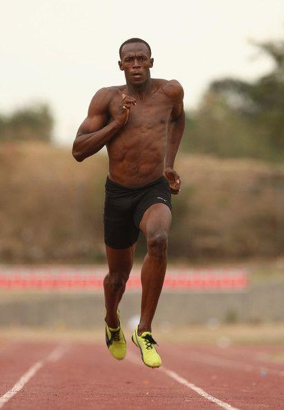 Usain Bolt.  Runs his daily dones.