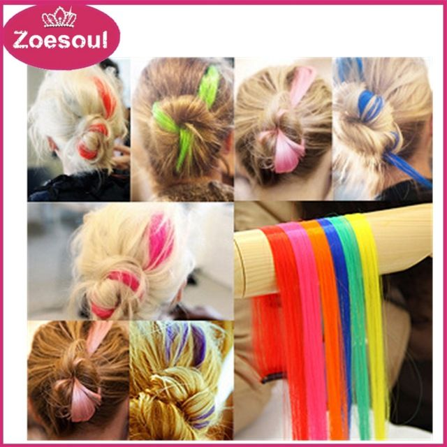 Straight Synthetic Natural Clip In Hair Extensions Solid Colors Long Clip On Hair Extension Hairpiece Multicolor Available,Always have your favorite color and suit you