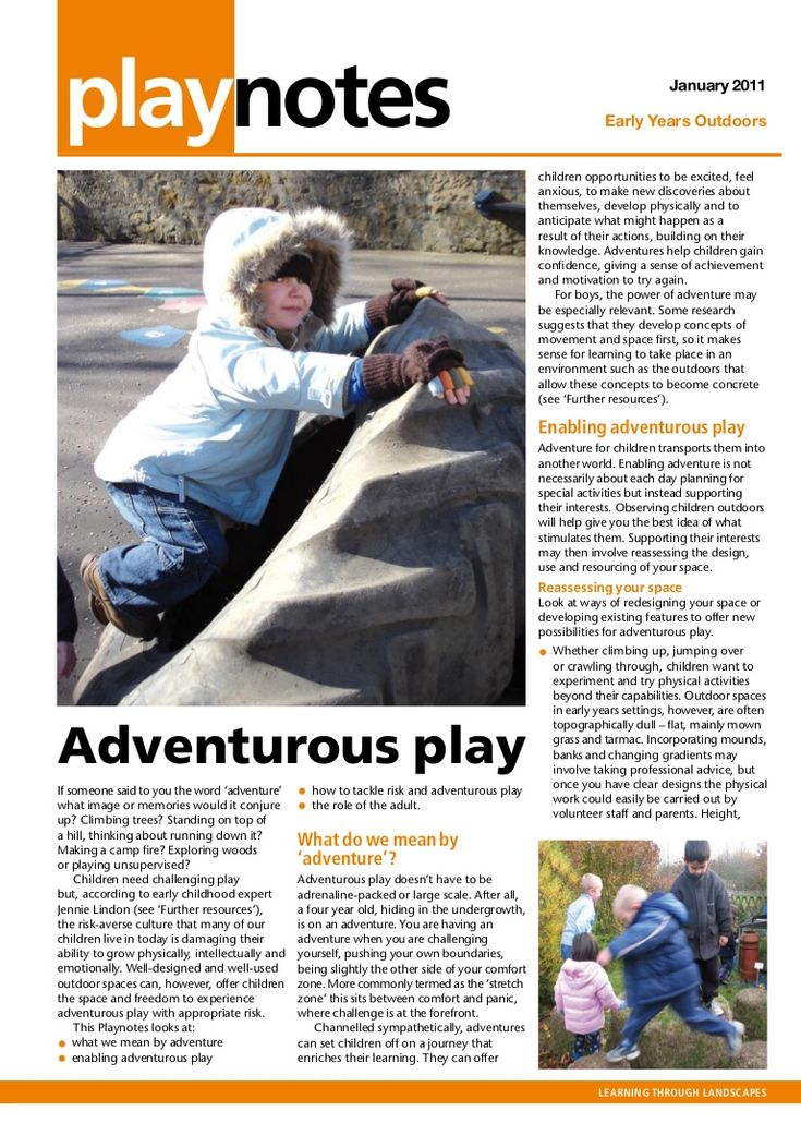 adventurous-play-early-years-outdoors-learning by GeoAnitia via Slideshare