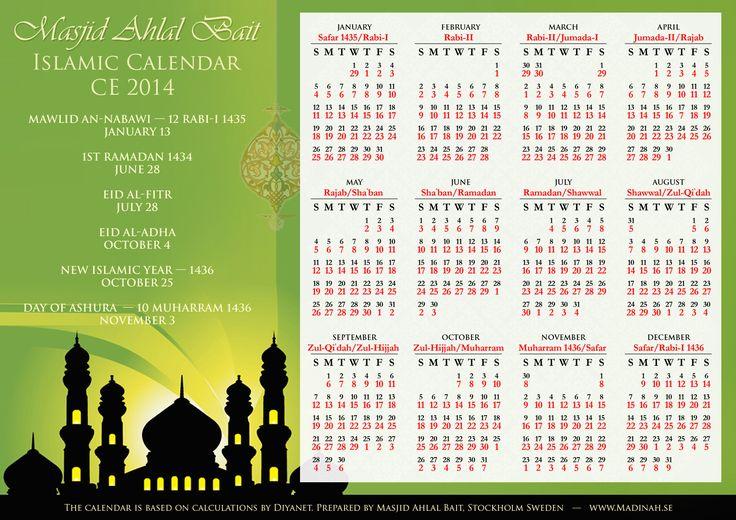 islamic calendar 2014 | Islamic Calendar 2014