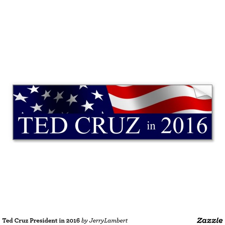 Ted Cruz President in 2016 Car Bumper Sticker