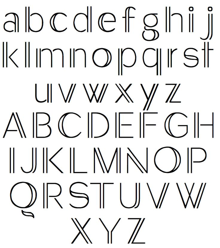 Pix For Simple Typography Alphabet Diy Crafts