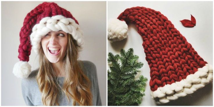 This Chunky Knit Santa Hat Will Be the Coziest Thing You Wear All Winter
