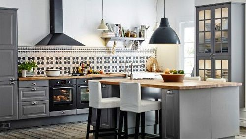 kitchen veddinge grey - Google Search
