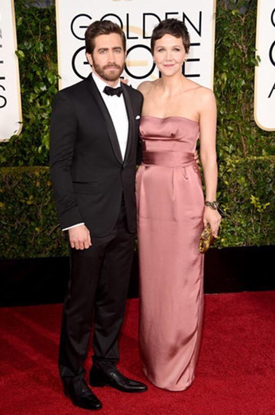 2015 72nd Golden Globe Vent Groom Tuxedos Grey Best Man Groomsman Men Wedding Suits Bridegroom ake Gyllenhaal and Maggie Gyllenhaal