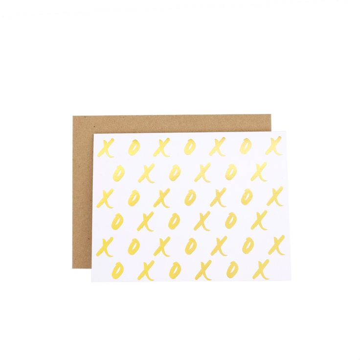 Gold Foil XO by Wrinkle and Crease Paper Products