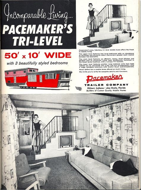 Pacemaker Tri Level Mobile Home Ad