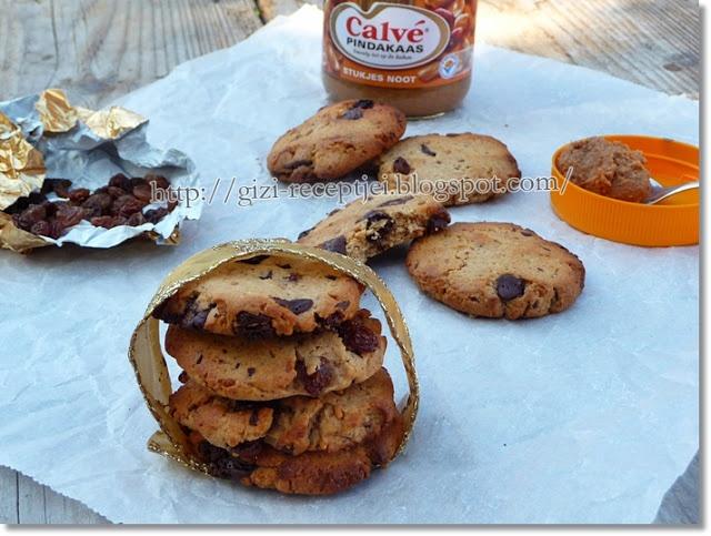 Gizi-receptjei. Várok mindenkit.: Mogyoróvajas-csokoládés keksz.