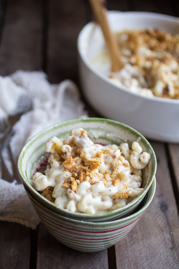 Creamy Brie Four Cheese Mac and Cheese with Buttery Ritz Crackers   halfbakedharvest.com