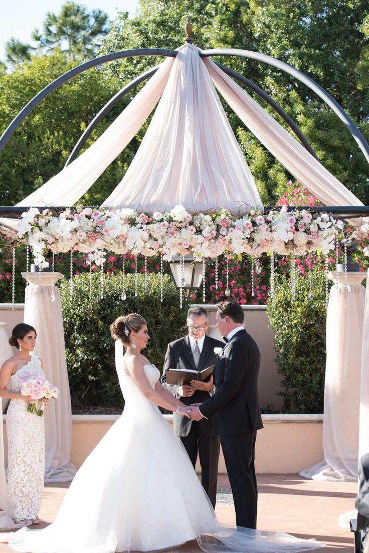 Luxe Outdoor Wedding Ceremony at Loews Portofino Bay Hotel in Orlando, FL - The Celebration Society
