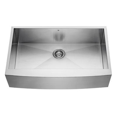 Kitchen Bath Collection presents this executive stainless steel kitchen sink set at an unbelievable price! Includes a free stainless steel sink colander, strainer and grid! This sink is made from top quality 304 stainless steel at 16-gauge thickness for maximum durability. Don't be fooled by fake 16-gauge sinks on the market -- always check the weight of the sink! This sink is an incredible 41 pounds! Other features include a scratch-resistant brushed stainless steel finish, industry-lead...