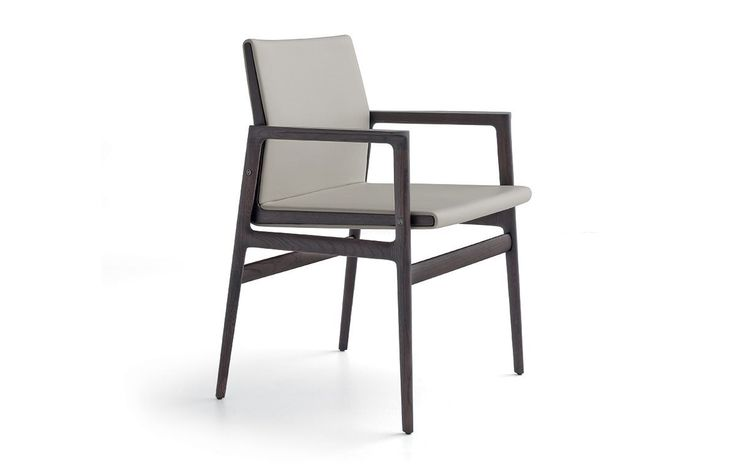 Ipanema Chair, Jean - Marie Massaud: spessart oak and quarzo Limoges 3 fabric covering