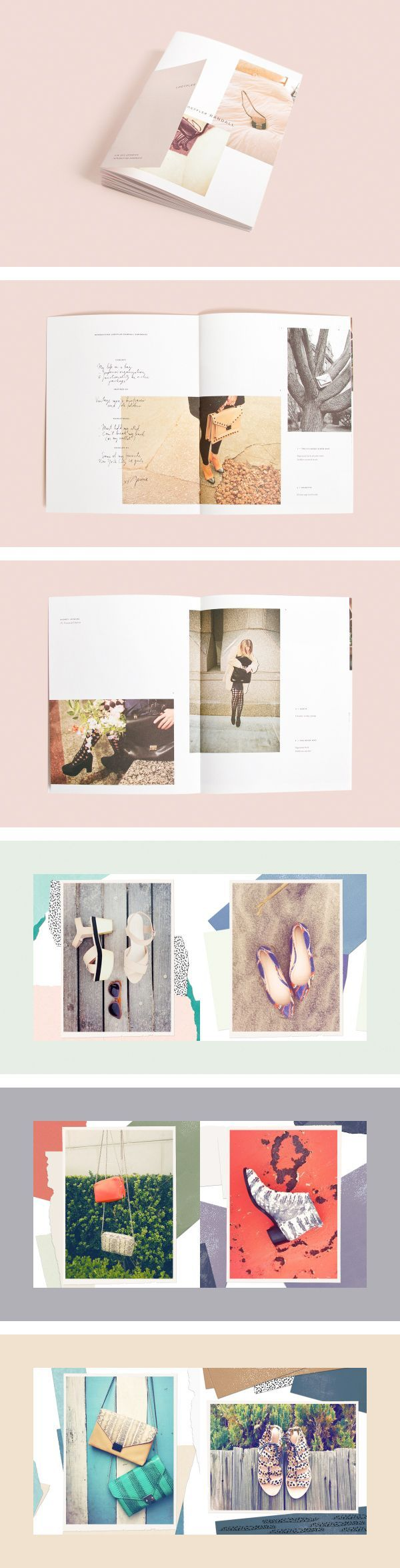 Scrapbook style layout for a magazine or brochure. Love the simplicity!