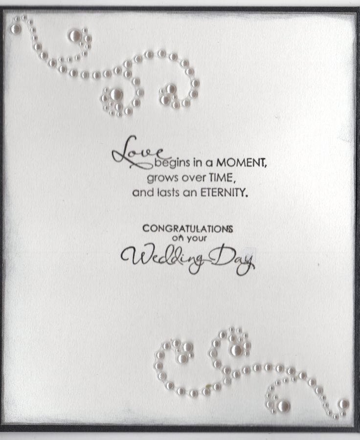 Wedding Card For An Older Couple - Inside