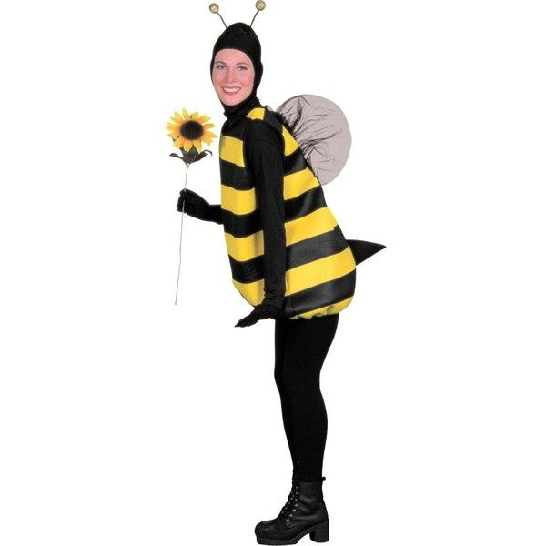 Womens Deluxe Beguiling Bee Costume ($20) ❤ liked on Polyvore featuring costumes, halloween costumes, multicolor, bumble bee costume, ladies halloween costumes, flower costume, bumblebee costume and women's bumblebee costume