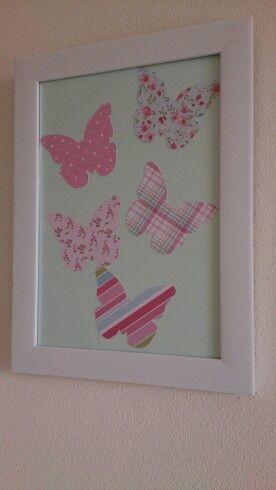 Butterfly nursery art