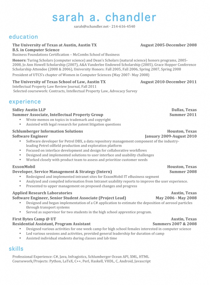 resume with color