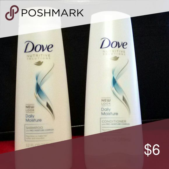 New Dove Shampoo and Conditioner Daily Moisture  Shampoo 12fl oz. Daily Moisture Conditioner 12fl oz Other