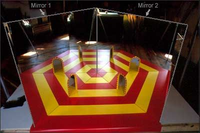 The secrets behind the mirror maze in I SPY Fun House.