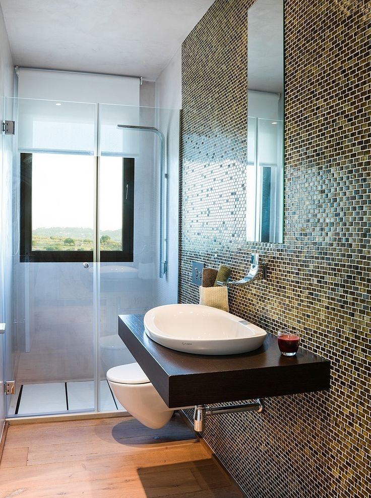 Spanish Family Home With Comfortably Contemporary Open Space Appeal Ceramic Tile Bathroomsbathroom
