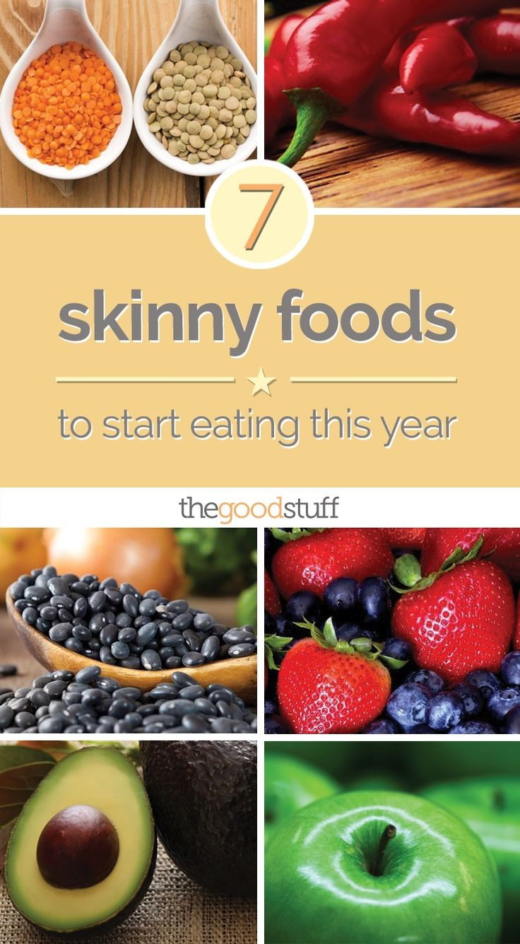 Start your year of healthy eating diet off right with these skinny foods and recipes, from black beans and chili peppers to egg whites and lentils.