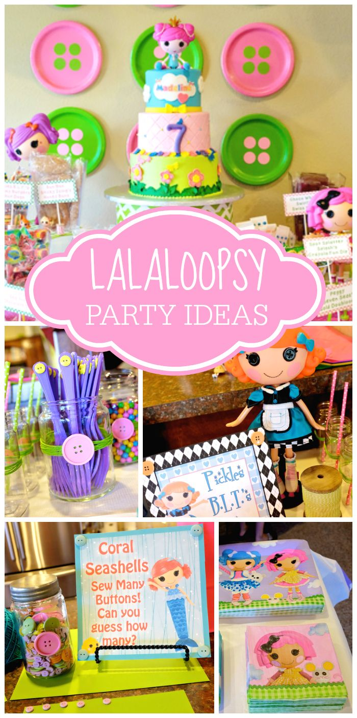 You won't believe all of the fun details at this adorable Lalaloopsy girl birthday party! See more party ideas at CatchMyParty.com!