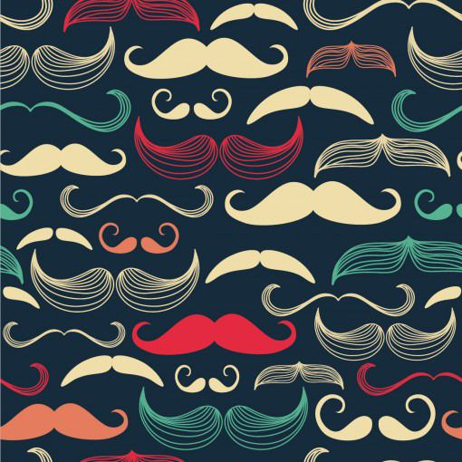 This is truly a one-of-a-kind Wall Decal. Your wall could feature staches throughout history by acting almost as a guide to the evolution of refined facial hair in mural form. This will go well with our Colonial Cruiser... just sayin...    Say good bye to the mess and hassle of wallpaper with these adhesive wall decals. Easy to use and totally awesome, you'll never look back again!  Included: One 24