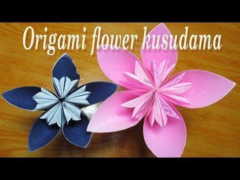 Easy Origami Kusudama Flower - YouTube