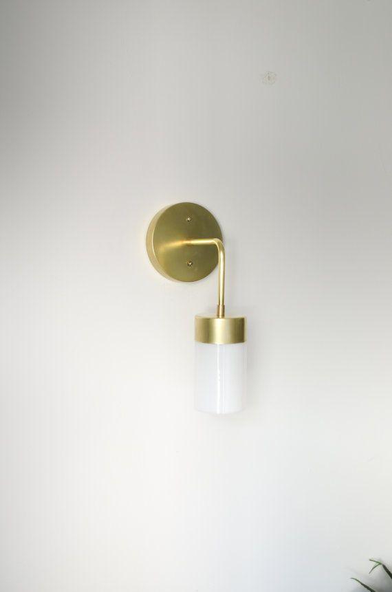 Zelda Solid Raw Brass Industrial modern wall by triple7recycled