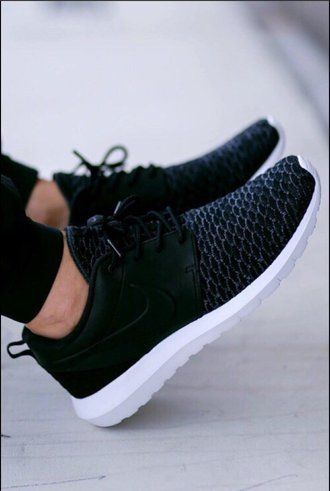 Monochrome Black And White Nike Sneakers Spring Time