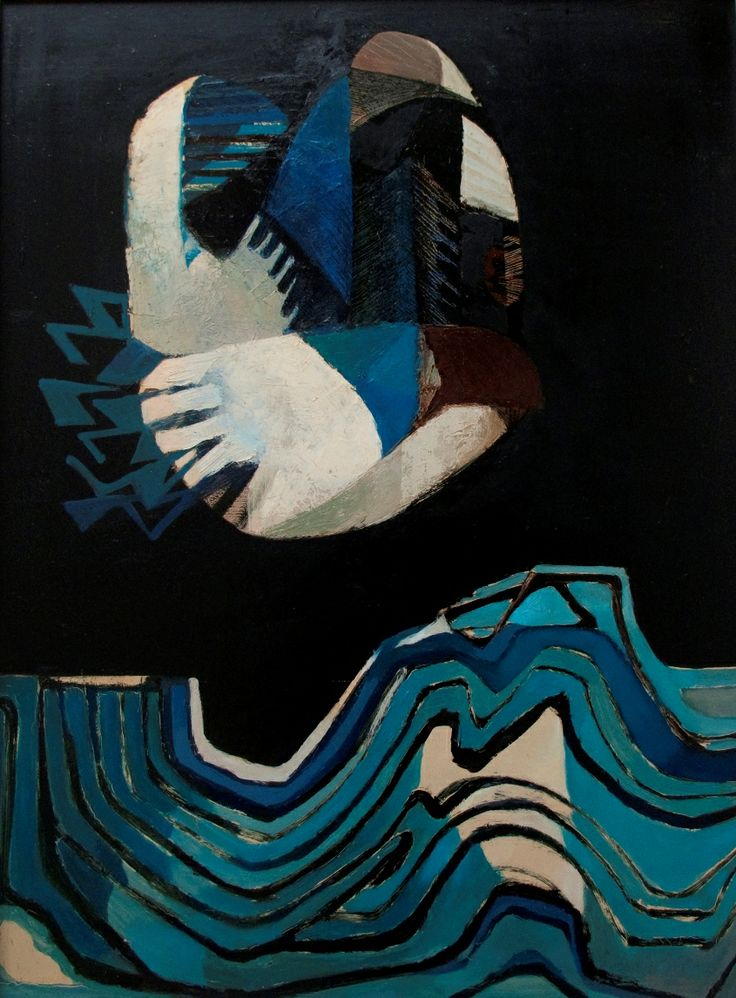 Blue Sea and Bird | Oil on Board | 36 x 48 inches | £7,500 | From 1966