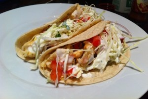BBQ Fish Tacos with Spicy Salsa and Cabbage Salad