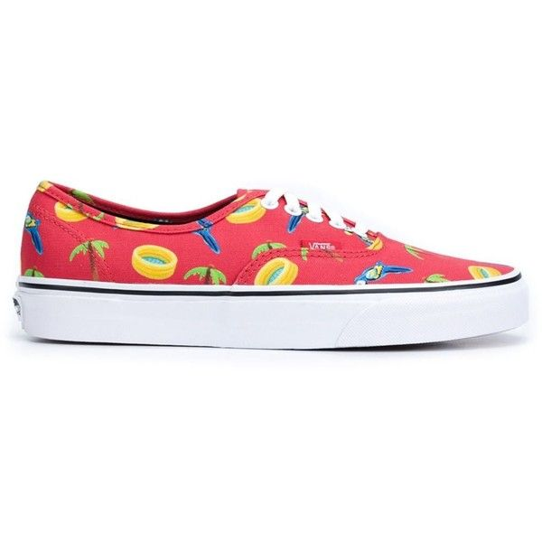 Vans Summer Print Sneakers ($55) ❤ liked on Polyvore featuring men's fashion, men's shoes, men's sneakers, red, vans mens shoes, colorful mens shoes, mens summer sneakers, mens red shoes and mens summer shoes