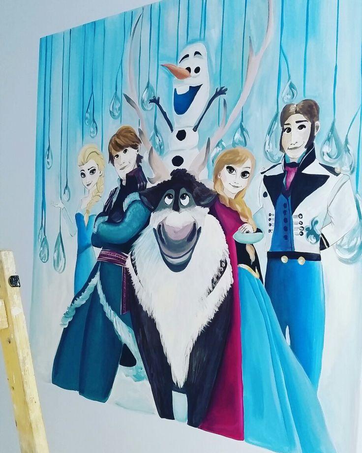"My mural painting "" Frozen ""- Madonia Art"