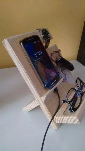 suporte para celular em madeira