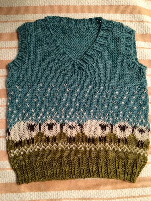 Ravelry: Project Gallery for Baa-ble Hat pattern by Donna Smith...I love this vest, it is SO cute!