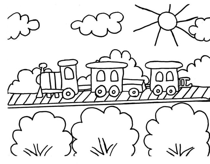 Train Car Coloring Pages