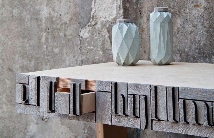 Newspaperwood by Mieke Meijer for Design Acadamy Eindhoven #innovative